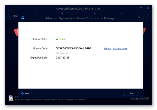 Advanced Systemcare Ultimate 10 Pro Key